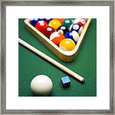Billiards Framed Print by Tony Cordoza