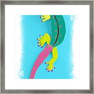 Gecko Two Framed Print by Deborah Boyd