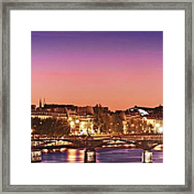 Left Bank At Night / Paris Framed Print by Barry O Carroll