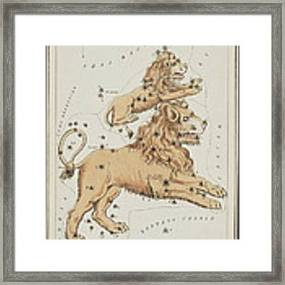 Leo Major And Leo Minor Constellations Framed Print by Science Source