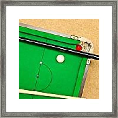 Pool Table Framed Print by Tom Gowanlock