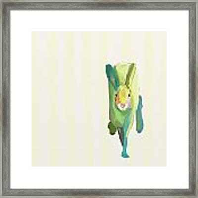 Running Bunny Framed Print
