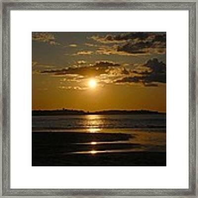 Sunset On Crane Beach Framed Print by AnnaJanessa PhotoArt