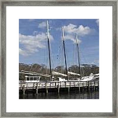 Three Mast Sailboat Framed Print by Ralph Jones