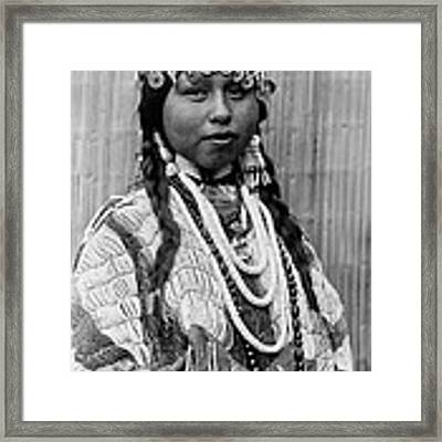 Tlakluit Indian Woman Circa 1910 Framed Print by Aged Pixel