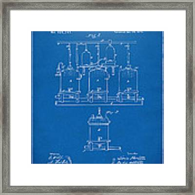 1873 Brewing Beer And Ale Patent Artwork - Blueprint Framed Print