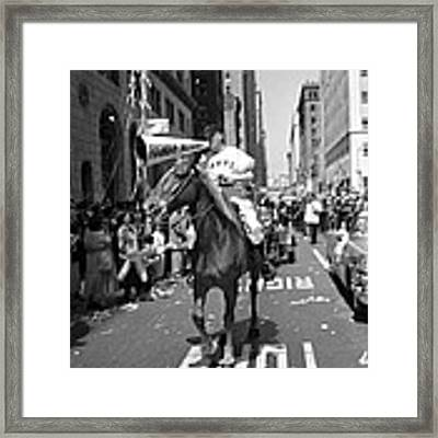 1954 World Series Champions Giants Parade Foghorn Style Framed Print by Retro Images Archive