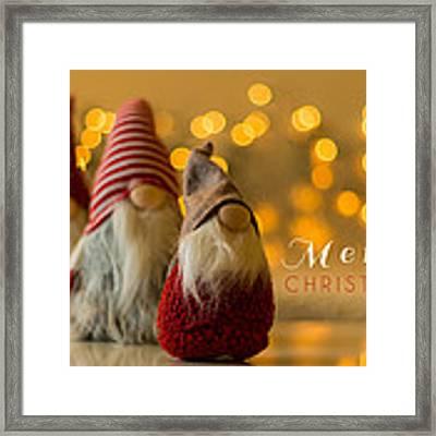 Merry Christmas Greeting Card Framed Print