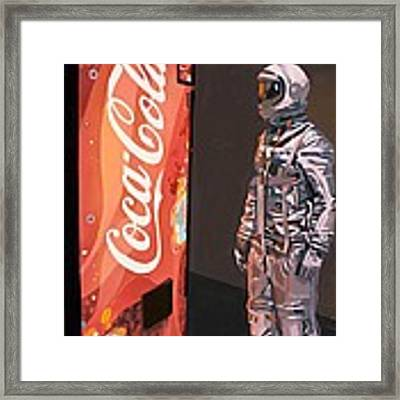 The Coke Machine Framed Print