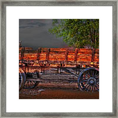 Wagons East Framed Print by Gunter Nezhoda