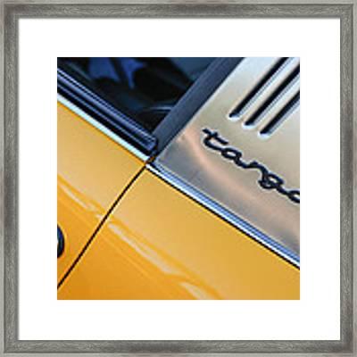 1973 Porsche 911 E Targa Emblem Framed Print by Jill Reger