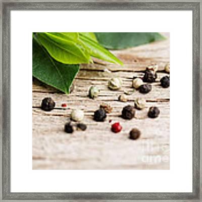 Kitchen Herbs Framed Print by Nailia Schwarz