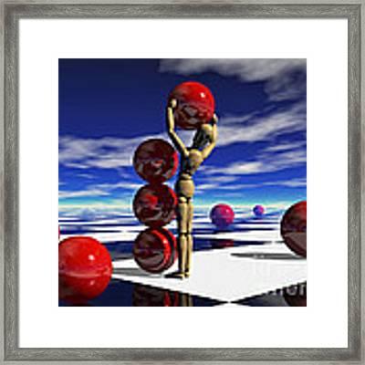 A Hard Day's 'work Framed Print by Sandra Bauser Digital Art