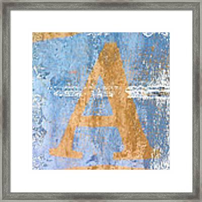 A In Blue Framed Print