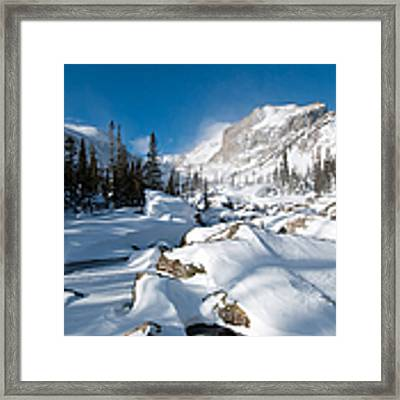 A Winter Morning In The Mountains Framed Print by Cascade Colors