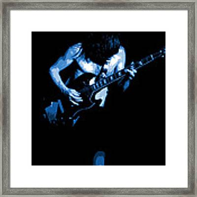 Ac Dc #35 In Blue Framed Print by Ben Upham