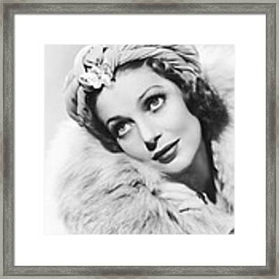 Actress Loretta Young Framed Print