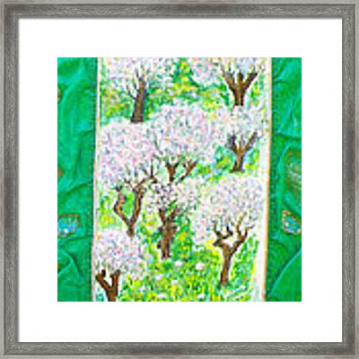 Almond Trees And Leaves Framed Print by Augusta Stylianou