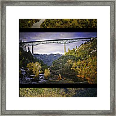 American River Triptych Framed Print by Sherri Meyer