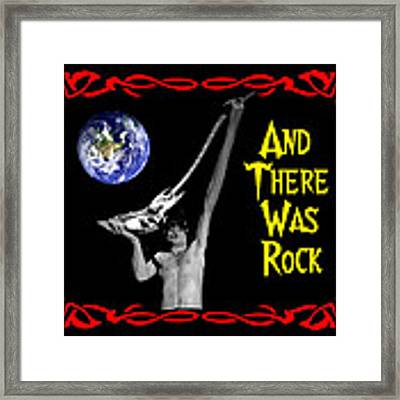 And There Was Rock #2 Framed Print by Ben Upham