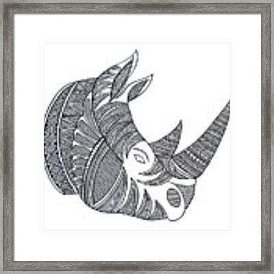 Animal Head Hippo Framed Print