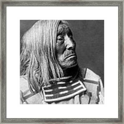 Apsaroke Native Indian Circa 1908 Framed Print