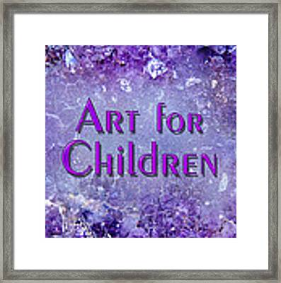 Art For Children Framed Print by Donna Proctor