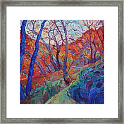 Autumn Blues Framed Print by Erin Hanson