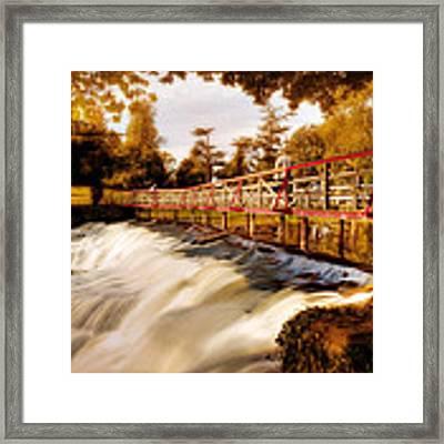 Autumn Waterfall / Maynooth Framed Print by Barry O Carroll