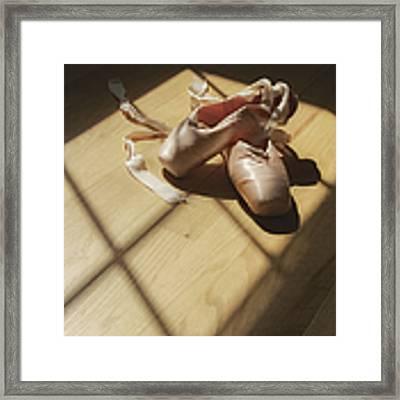 Ballet Slippers Framed Print