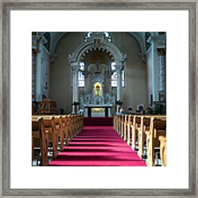 Basilica Of Saint Stanislaus Kostka Interior Center Framed Print by Kari Yearous