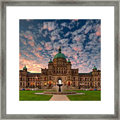 Bc Parliament Framed Print by David Buhler