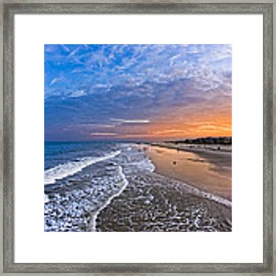 Beautiful Sunset Over Tybee Island Framed Print by Mark E Tisdale