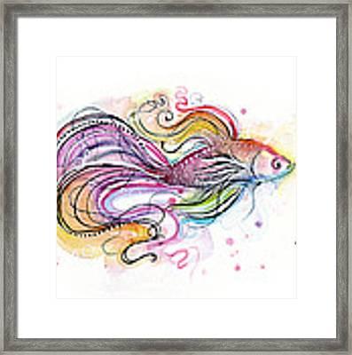 Betta Fish Watercolor Framed Print
