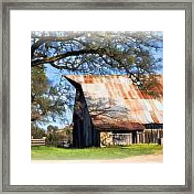 Big Barn On Mccourtney Framed Print by William Havle