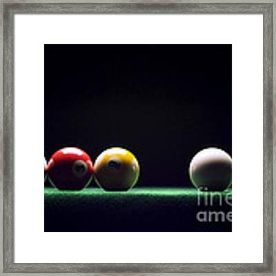 Billiard Framed Print by Tony Cordoza
