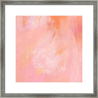 Blush- Abstract Painting In Pinks Framed Print by Linda Woods