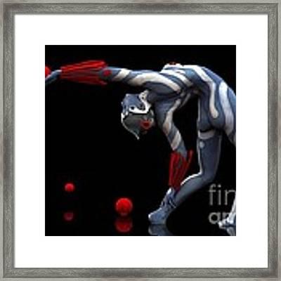 Body In Motion Framed Print by Sandra Bauser Digital Art