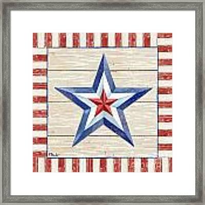 Bordered Patriotic Barn Star IIi Framed Print