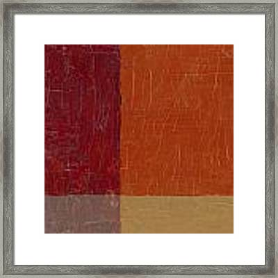 Bricks And Reds Framed Print