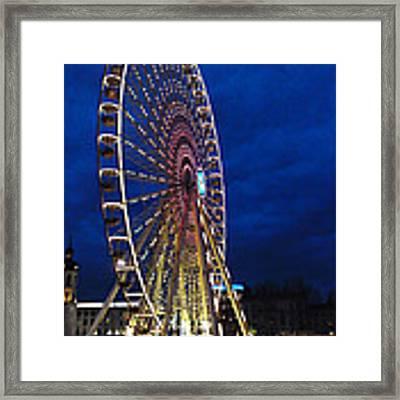 Bright Night Ferris Wheel Framed Print by Stwayne Keubrick