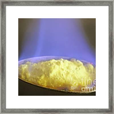 Burning Sulfur Framed Print by ER Degginger