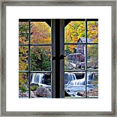 Cabin 11 At Babcock Framed Print by Williams-Cairns Photography LLC