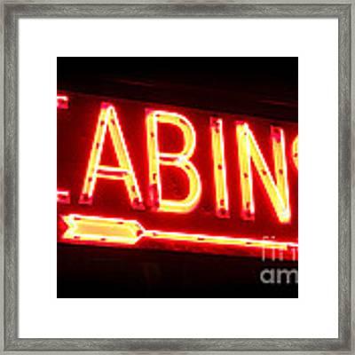Cabins Framed Print