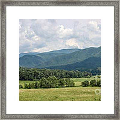 Cades Cove In Summer Framed Print by Todd Blanchard