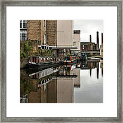 Canal And Chimneys Framed Print by Jeremy Hayden