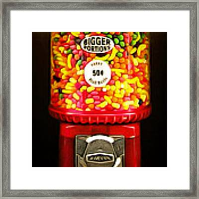 Candy Machine 40d8940 20150222 Framed Print by Wingsdomain Art and Photography