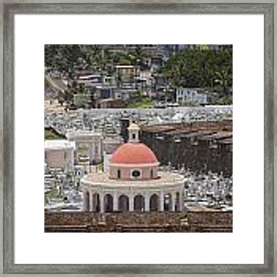 Cemetery In Old San Juan Puerto Rico Framed Print by Bryan Mullennix