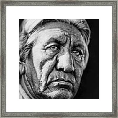 Cheyenne Indian Man Circa 1927 Framed Print