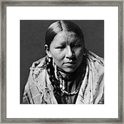 Cheyenne Young Woman Circa 1910 Framed Print by Aged Pixel